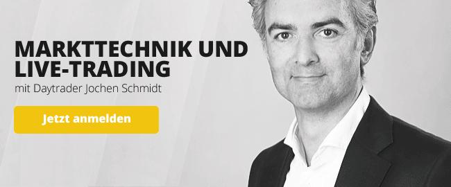 live-Trading Webinare mit Daytrader Jochen Schmidt